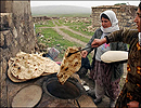 image of baking bread in Kurdistan