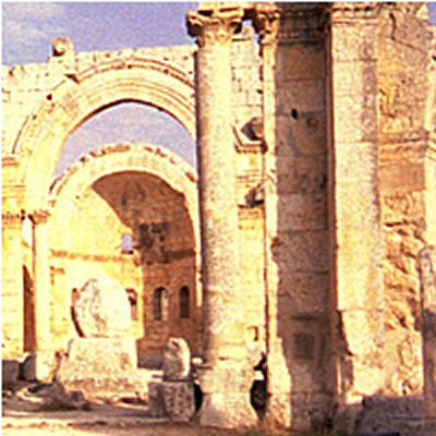 Remnant of the Basilica of St Simeon - near Aleppo (Halab), Syria
