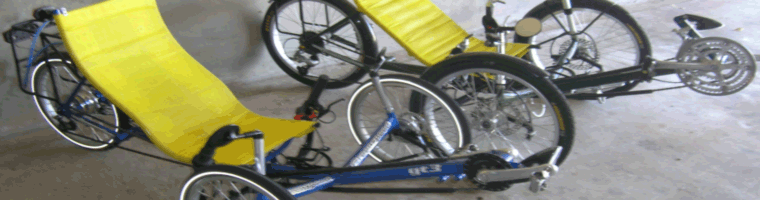 Site banner ::image of two Greenspeed trikes