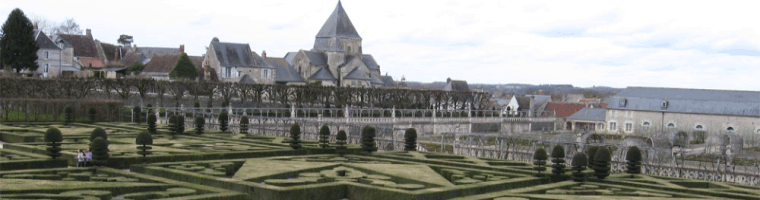 Site banner :: image of Chateaux garden in France