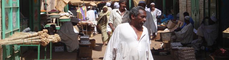 Site banner :: image of Omdurman souk, Sudan