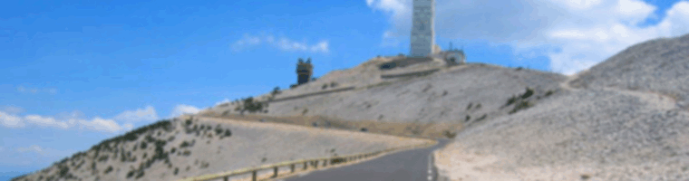 Site banner :: image of of road to summit, Mont Ventoux France