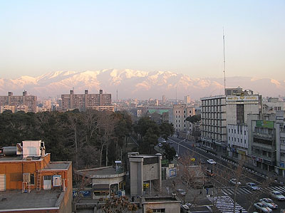 Alborhrz Mountains & ex-US Embassy area - Tehran, Iran