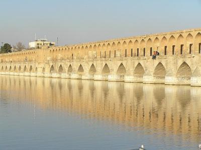 Bridge over Zayandeh River  -  Isfahan, Iran