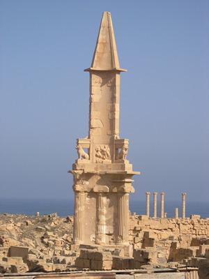 Punic mausoleum - Sabratha, Libya