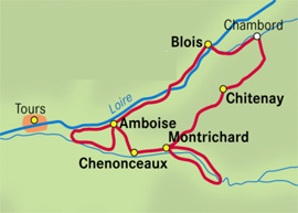 Map of Loire tour