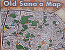 image of map of Old Sanaa,Yemen