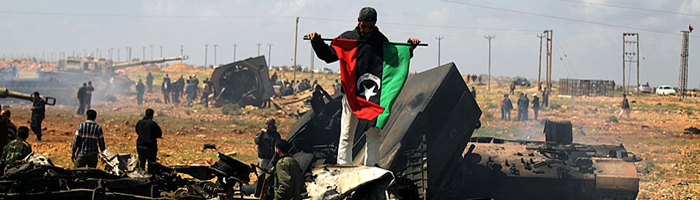 Site banner :: image of 'rebels', Libya