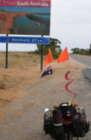 Sign at the border of South Australia
